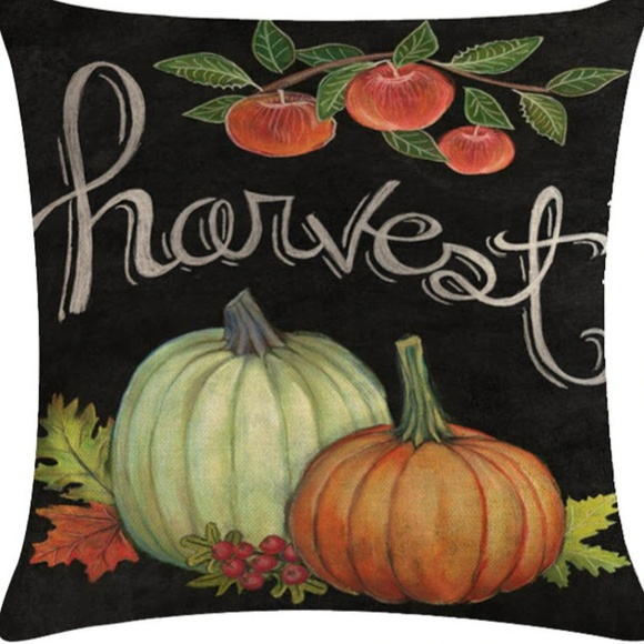 Other - Pillow Cover- NEW- Thanksgiving Fall Harvest